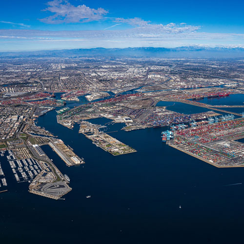 Port of Los Angeles Aerial​