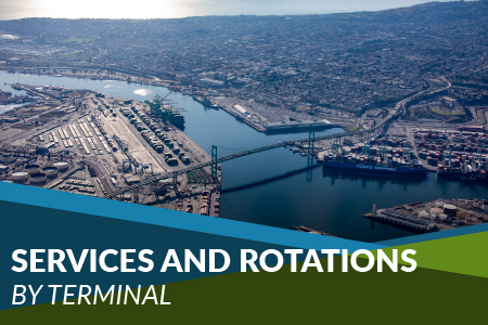 Links to Shipping Line Services and Port Rotations by Terminal