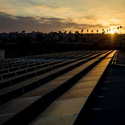 Solar panels at the Port of Los Angeles