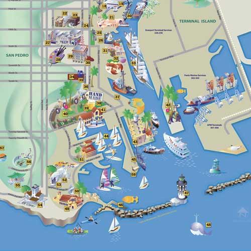 LA Waterfront Map