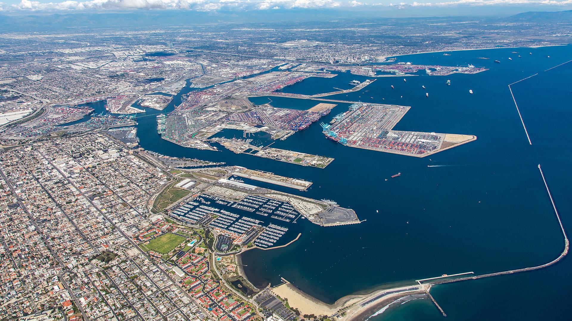 San Pedro Bay Port Complex Aerial