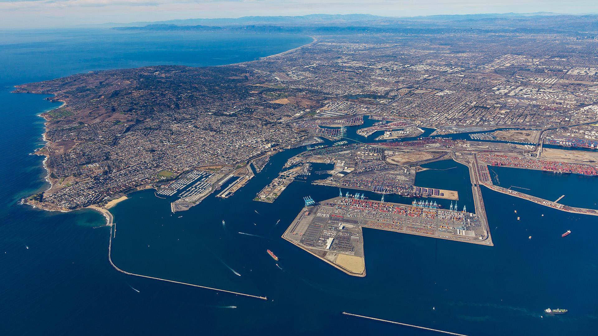 Port of Los Angeles Aerial