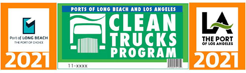 2020 Clean Truck Program Sticker Sample