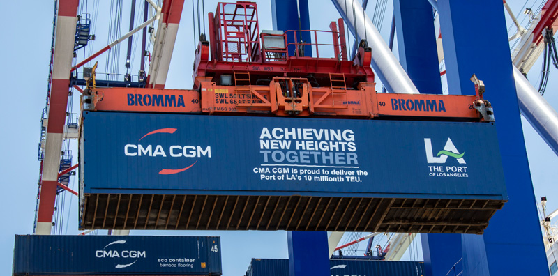 Port Handles 10 Millionth Container